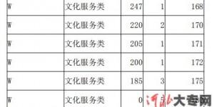 2021年河北省高职单招考试八类(文化艺术等所涉及专业)W艺术-文化服务类一分一档表